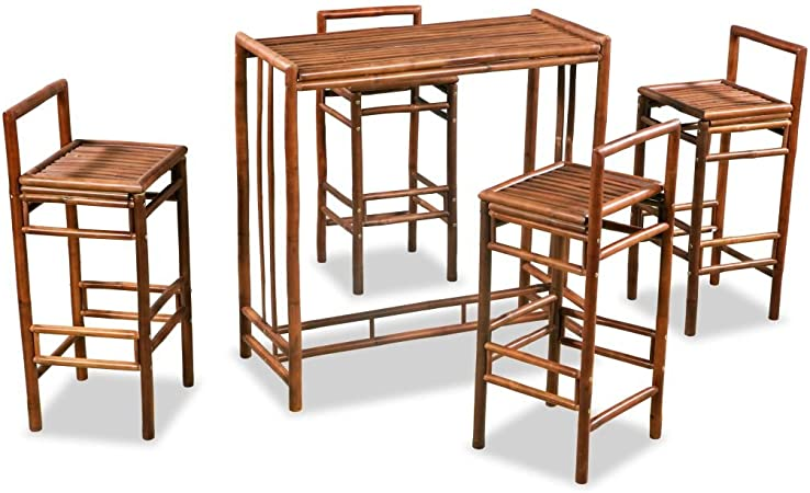 Tavoli E Sedie Per Esterno Bar Usati.Festnight Set Da Bar Alto Da Giardino Esterno Bambu Set Tavolo E