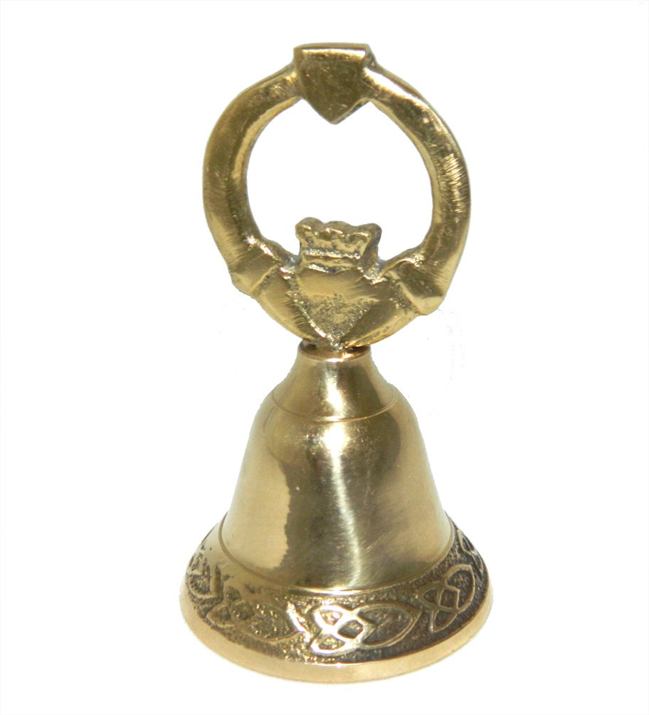 Brass Bell Claddagh Design Handle From Ireland