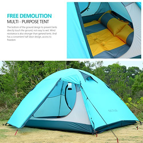 Amazon.com  OUTAD 2-Person Tents Portable Folding Waterproof Lightweight Double Layer Tent (Blue)  Sports u0026 Outdoors  sc 1 st  Amazon.com & Amazon.com : OUTAD 2-Person Tents Portable Folding Waterproof ...