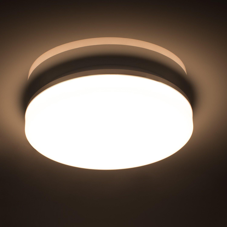 Öuesen 18W Wasserdichte LED-Lampe Decke Moderne dünne Runde LED bündige Deckenleuchte 1650lm Natürliches Weiß 4000K LED Deckenlampe für Badezimmer Schlafzimmer Küche Wohnzimmer Korridor Balkon Flur Bad [Energieklasse A++] Ou Chang OC#OYX6101