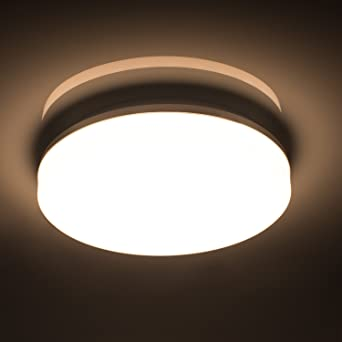 Öuesen 18W Wasserdichte LED Lampe Decke Moderne dünne Runde LED  Deckenleuchte 1650lm Natürliches Weiß 4000K LED Deckenlampe für Badezimmer  ...