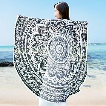 JCDZH-FT Mandala Alfombras Tapices redondo toalla de playa adjunta sofás de tela toalla manteles esterilla de yoga: Amazon.es: Hogar