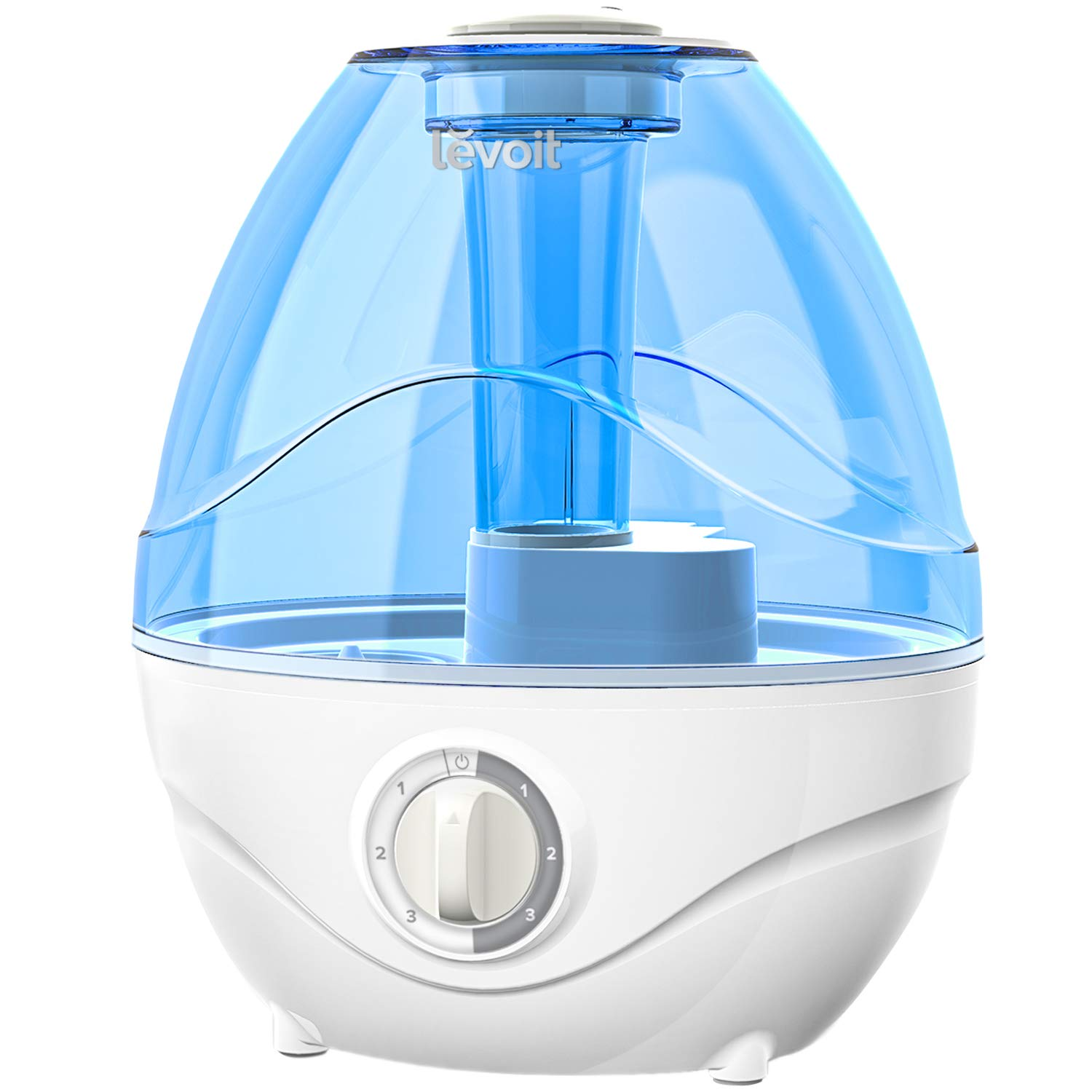 LEVOIT Humidifiers for Bedroom, 2.4L Ultrasonic Cool Mist Humidifier for Babies (BPA Free), Quiet Operation, Auto Shut-Off and Night Light, Lasts up to 24 Hours, 2-Year Warranty, AC 100-240V by LEVOIT
