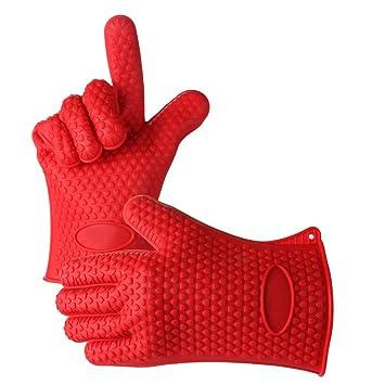 japace®® 1 paar hitzebeständige silikon handschuhe grillhandschuhe ... - Hitzeschutzhandschuhe Küche