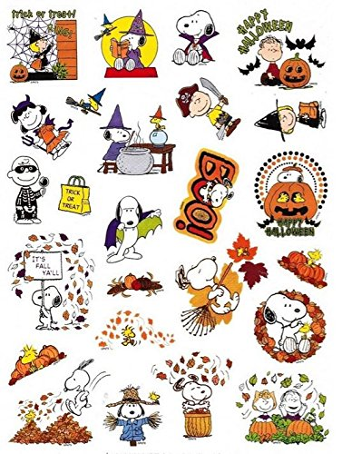 Peanuts Snoopy Fall and Halloween Stickers (25 Stickers; (Pumpkin Halloween Costume Homemade)