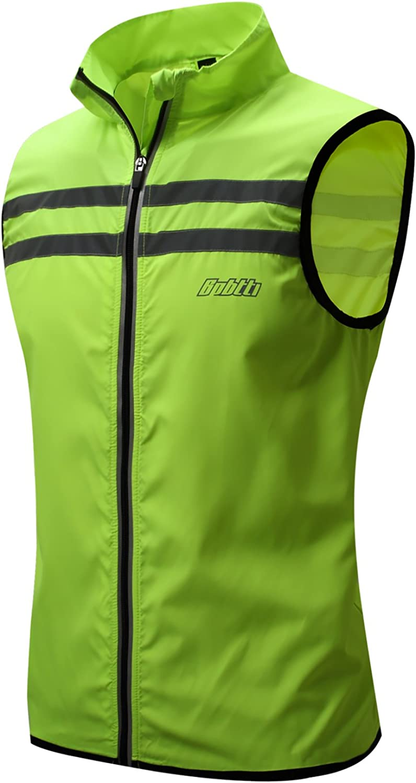 bpbtti Men's Hi-Viz Safety Running Cycling Vest - Windproof and Reflective