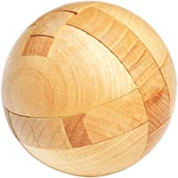 SHUYUE Handmade Wooden Puzzle Magic Ball Brain Teasers Toy Intelligence Game Sphere Puzzles for Adults/Kids