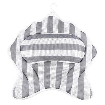 Amazon.com: Almohada de baño antideslizante para bañera, de ...