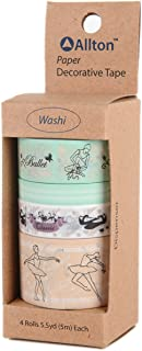 Allton decorativo Washi tape larghezze assortite,, 5.08 x 12.7 x 5.08 cm