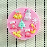 Hot New Snow Flake Winter Lace Silicone mould Sugercraft Christmas Cake Snow man Flake Tree Mold Candy