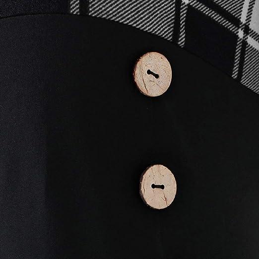 DEELIN Tops para Mujer Pullover Blusa Más Tamaño O-Cuello Manga ...