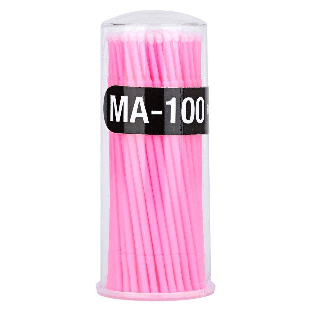 Yimart® 400pcs Disposable Mascara Applicator Micro Brush Individual Eyelash Extension Microbrushes (Pink)
