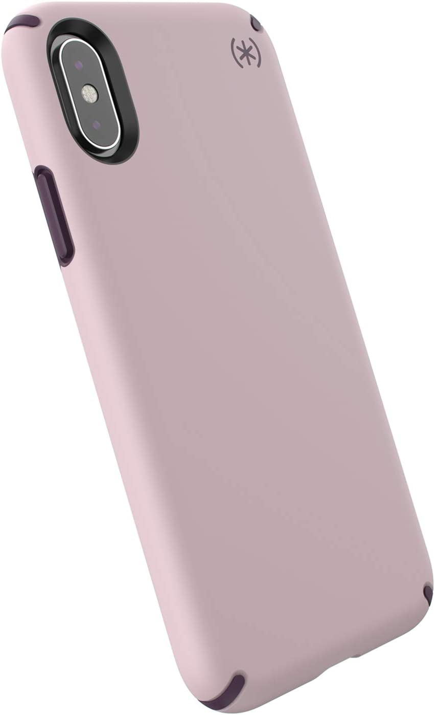 Speck Products Presidio Pro iPhone Xs/iPhone X Case, Meadow Pink/Vintage Purple