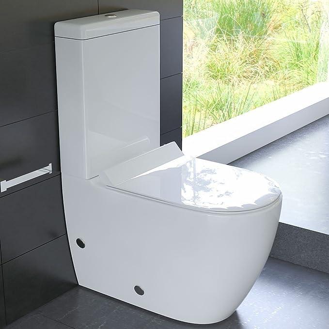 Inodoro de diseño con cisterna Geberit, cerámica, juego de asiento ...