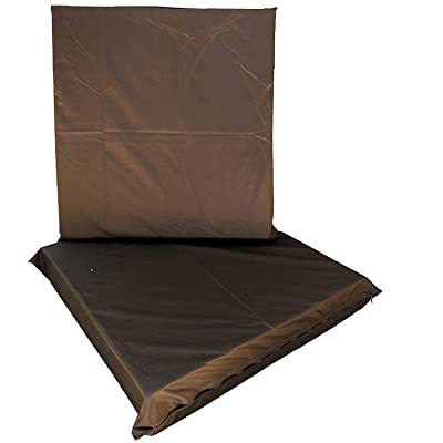 """QQbed 2 Pack Waterproof Deep Seat Removable Patio Brown Protective Cushion Zipper Covers - Covers ONLY (20""""x18""""x4"""") : Garden & Outdoor"""
