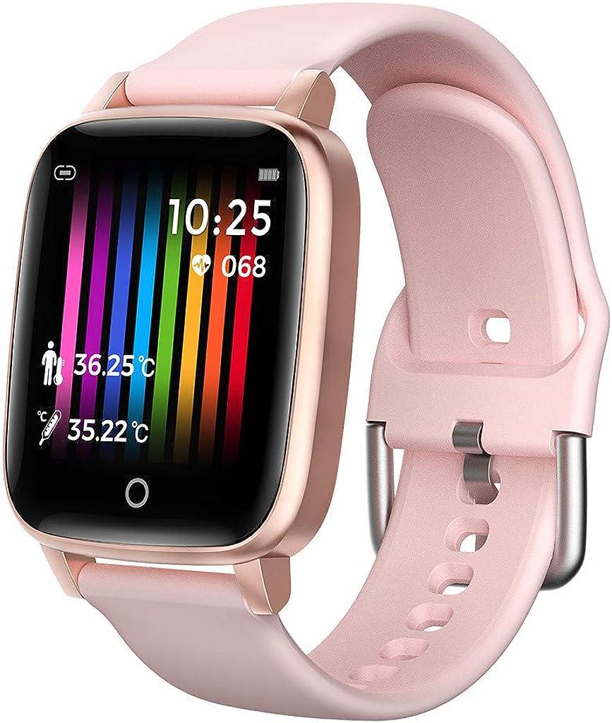 igemy Sport Tracker, 2019 Smart Watch Fitness Actividad tracker Tensiómetro de reloj Corazón IP67, color Rosa: Amazon.es: Joyería