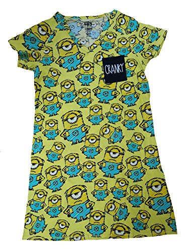 Despicable Me Minions All Over Yellow Nightgown Long