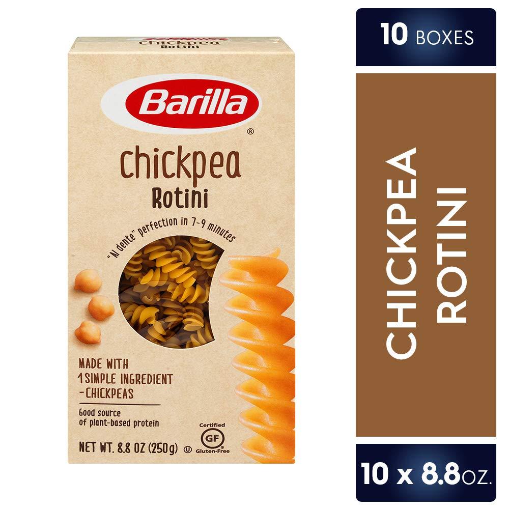 Barilla Chickpea Pasta, Gluten Free Pasta, Rotini, 8.8 Ounce (Pack of 10) by Barilla