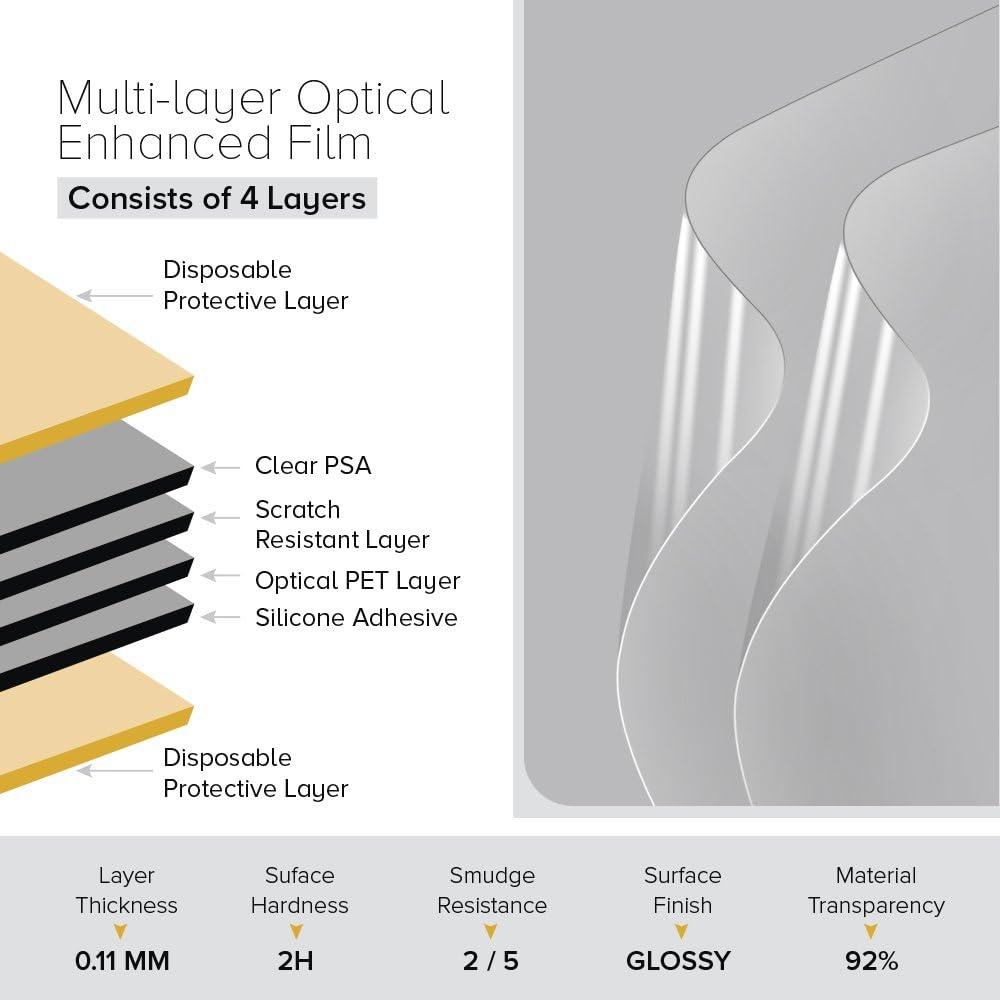 2-in-1 die mit dem Dell Latitude 13 5300 Celicious Vivid Unsichtbare 2er Pack Glatte HD-Bildschirmschutzfolie kompatibel ist