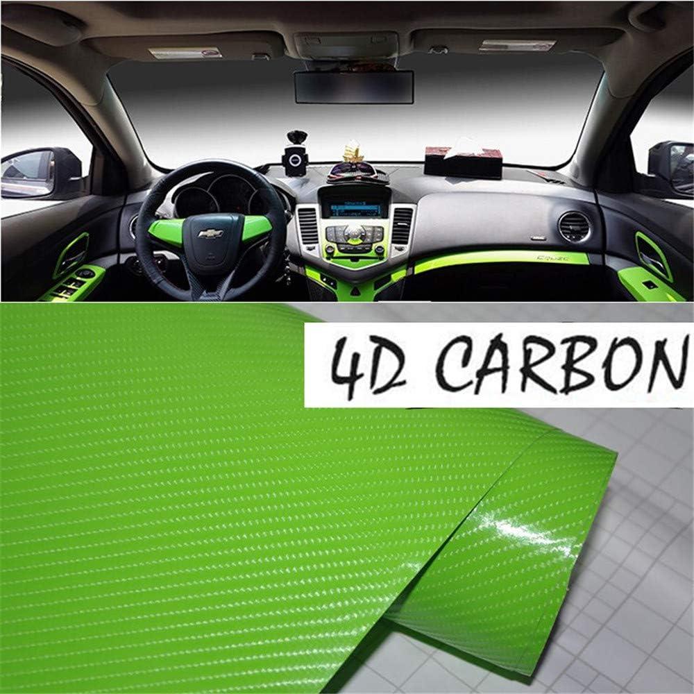 DIYAH 4D Black Carbon Fiber Vinyl Wrap Sticker with Air Realease Bubble Free anti-wrinkle 96 x 60 // 8FT x 5FT