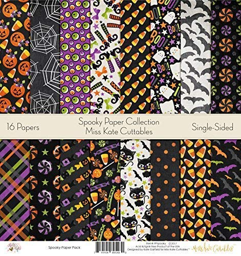 Pattern Paper Pack - Spooky - Scrapbook Premium Specialty Paper Single-Sided 12