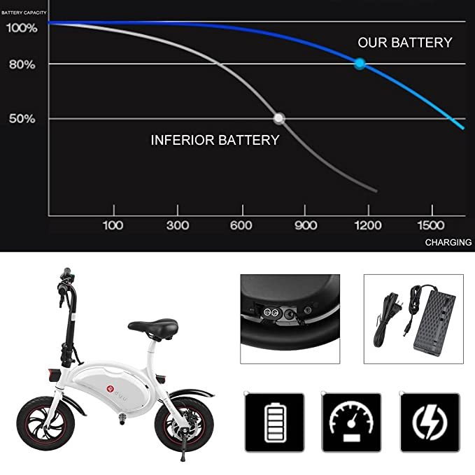 Amazon.com: Genuine Store - Bicicleta eléctrica plegable, de ...