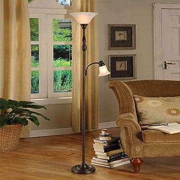 Amazon.com: GangGe Lámpara de pie clásica para dormitorio ...