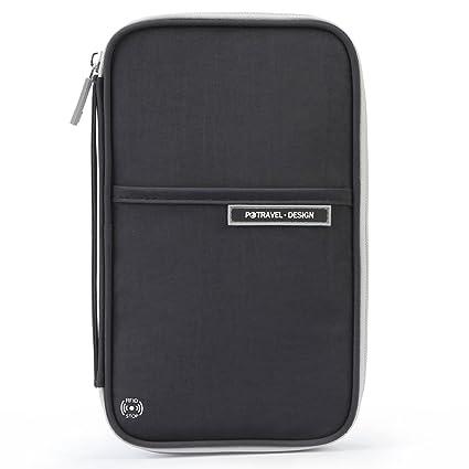 748fd35cfdec Amazon.com | P.travel RFID Blocking Passport Holder Travel Wallet ...