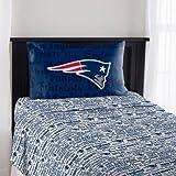 The Northwest Company NFL New England Patriots Anthem Twin Sheet Set
