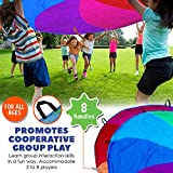 Little Dynamo | Rainbow Play Parachute for Kids