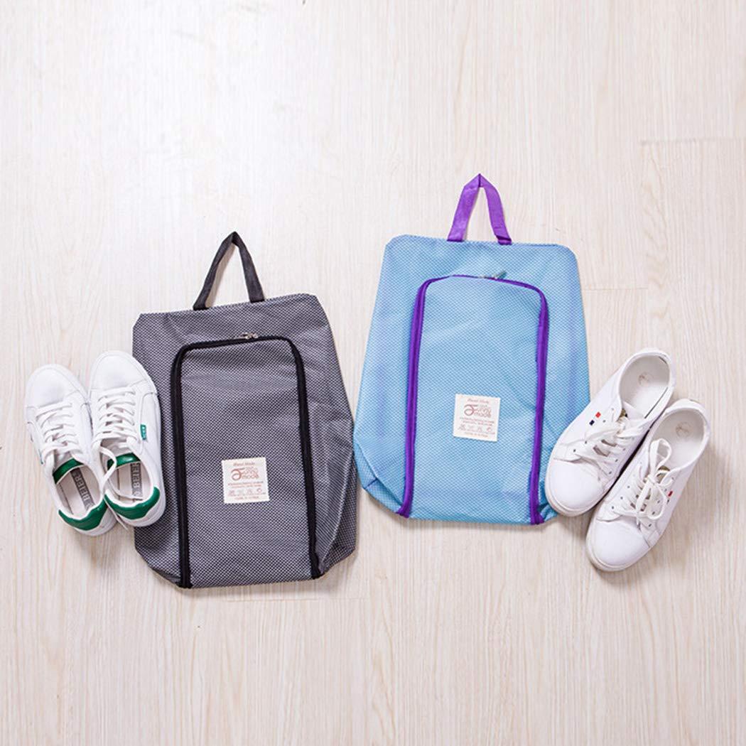 2 Packs Travel Shoe Bag with Zipper Waterproof Portable Storage Organizer Bags