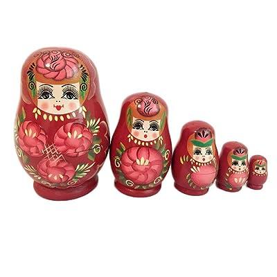 5 Unids Muñecas Rusas Rusas pequeña Panza del Vientre apilado anidado sethandmade Juguetes for niños niños decoración de la habitación en casa deseando Regalo: Juguetes y juegos