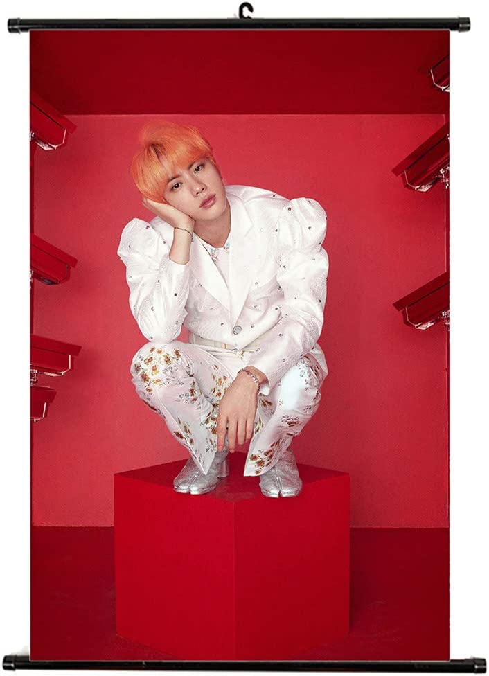 32 * 21cm Yeleo Trosetry KPOP BTS Love Yourself Dipinti Appesi a Scorrimento in Tessuto Artistico per A.R.M.Y H01 BTS Poster