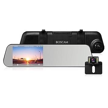 """BOSCAM R1 Dashcam Cámara de visión trasera Full HD 1080P Lente doble 4.5"""" Touchscreen Cámara"""