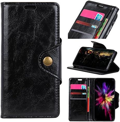 BONROY Huawei Enjoy 7 Hülle, Handyhülle Huawei Enjoy 7 Tasche Leder Flip Case Brieftasche Etui Schutzhülle für Huawei Enjoy 7 HD-Schwarz