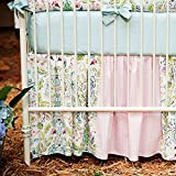 Carousel Designs Love Birds Crib Skirt Gathered Patchwork 14-Inch Length