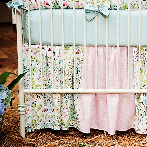 Carousel Love Birds 2-Piece Crib Bedding Set