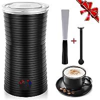 Elektrischer Milchaufschäumer,Milchschäumer Automatisch - 4 Funktionen für Schaum- und Wärmemilch,240ml dichter Schaum für Kaffee Macchiato Latte Cappuccino,Reinigungsbürste&Silikonlöffel 400W