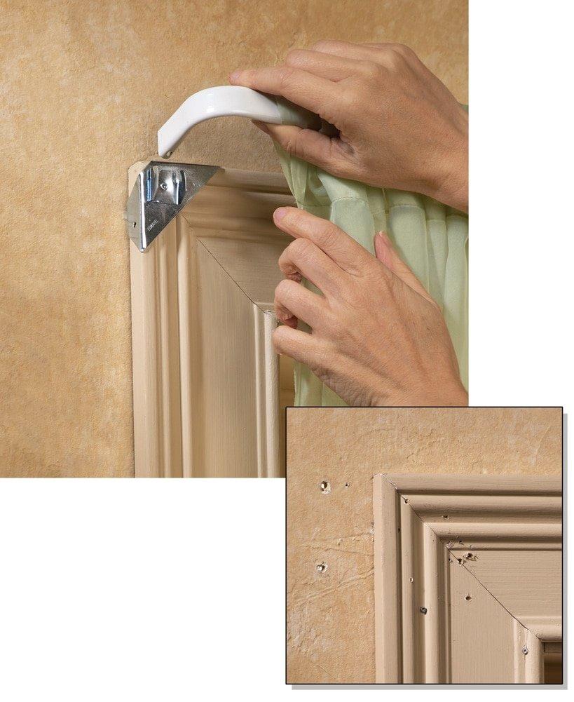 instant curtain rod holder