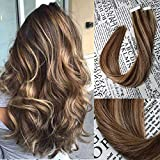 Bleaching Hair Mixed With Conditioner - Vario Tape In Hair Extensions Human Hair 7A 18 inch 40g/pack 20pcs Seamless Skin Weft Remy Straight Hair #4P27 For Fashion Women