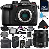 Panasonic Lumix DC-GH5S Mirrorless Micro Four Thirds Digital Camera International Version (No Warranty) + Panasonic Lumix G X Vario 12-35mm II Lens + 128GB Class 10 Memory Card Bundle