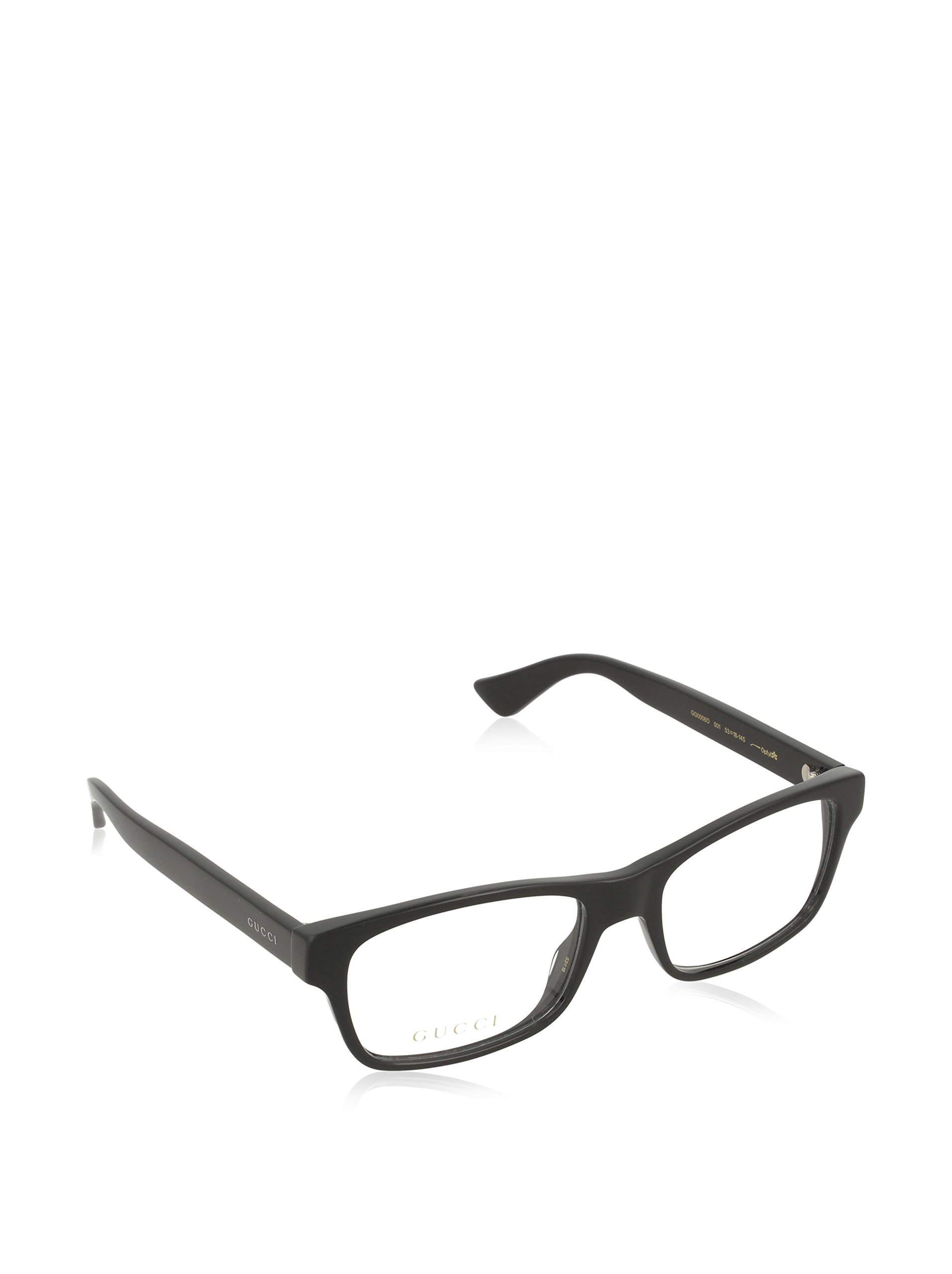 Gucci GG0006O Optical Frame 001 Black Black Transparent 53 mm by Gucci