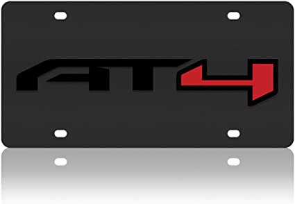 GMC AT4 Carbon Steel License Plate Compatible with Eurosport Daytona