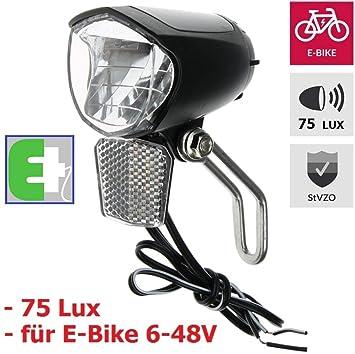 P4B - Faro LED para Bicicleta, de 75 Lux, para Bicicleta eléctrica ...
