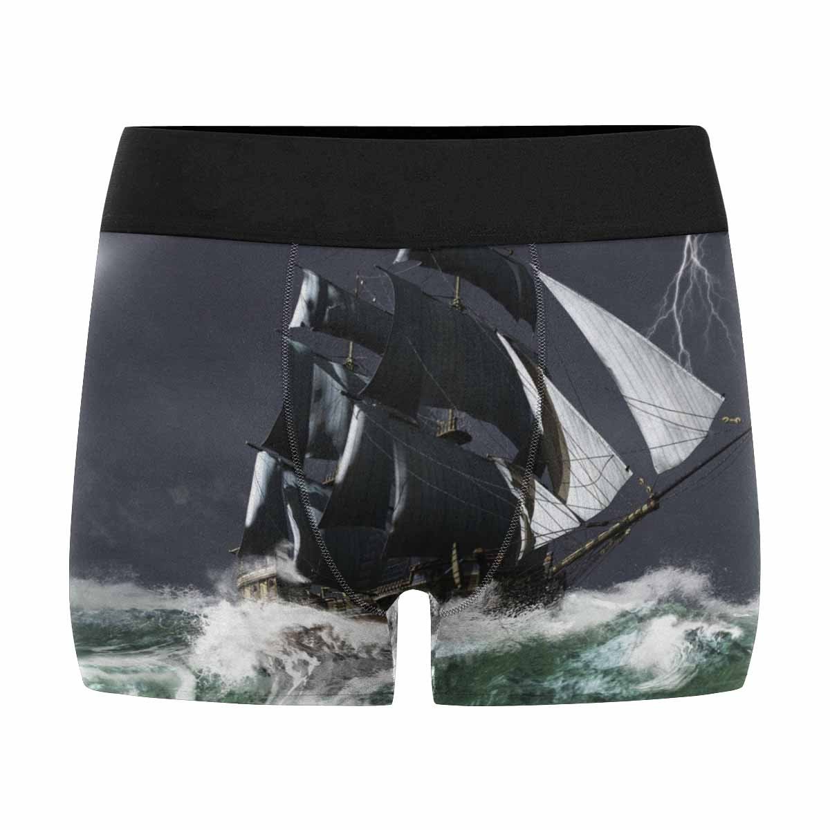 INTERESTPRINT Mens Boxer Briefs Ship Sailing XS-3XL