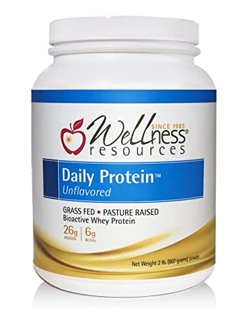 Daily Protein Unflavored - Grass Fed, Pasture Raised Bioactive Whey Protein Isolate - Soy-