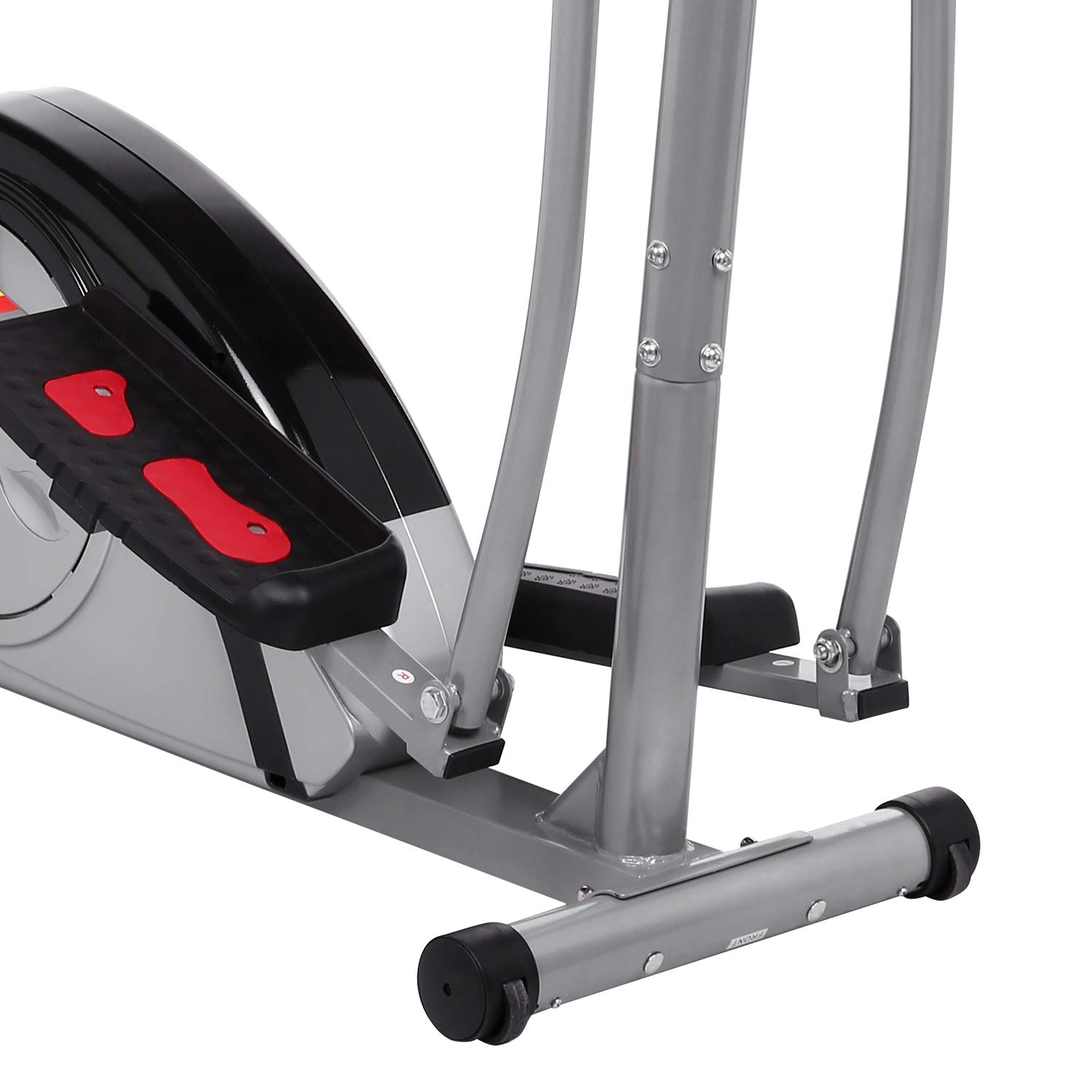 Fast 88 Portable Elliptical Machine Fitness Workout Cardio Training Machine, Magnetic Control Mute Elliptical Trainer with LCD Monitor,Top Levels Elliptical Machine Trainer (Grey) by Fast 88 (Image #6)