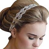 TININNA Cristal Tiara Diadema Bañado de Rhinestones Circonita Brillante para Novia Wedding Boda Fiesta