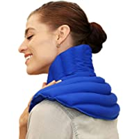 My Heating Pad Microwavable Neck and Shoulder Wrap Plus | Neck Wrap Microwavable for Relief of Pain, Sore Muscles Stress and Tension | Moist Heat Pack | Neck Heating Pad | Shoulder Heating Pad (Blue)
