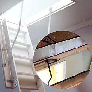 Happt Cubierta de la Escalera del ático, Tienda de Aislamiento de Las escaleras del ático Kit de aislador de Puerta de Papel de Aluminio de Doble Cara Eco Friendly Frugal: Amazon.es: Deportes